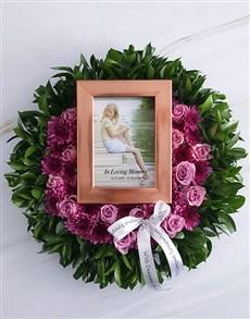 flowers: Personalised Purple Rose Memorial Wreath!