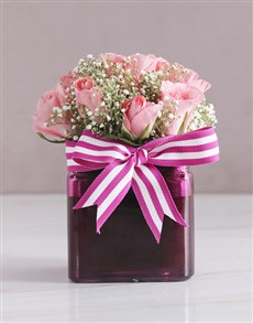 flowers: Radiant Sapphire Pink Roses!