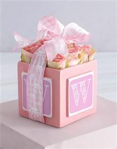 flowers: Personalised Pink Letter Arrangement!
