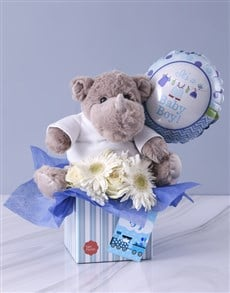 gifts: Baby Boy Rhino Hamper!