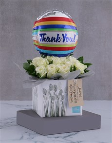 flowers: Personalised Thank You Arrangement In A Box!