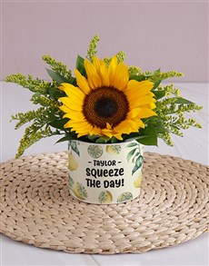 flowers: Personalised Squeeze the Day Sunflower!