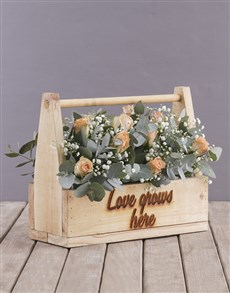 flowers: Love Grows Here Peach Roses!