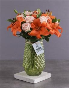 flowers: Orange Variety Assortments!