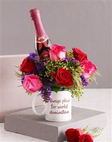 flowers: World Domination Floral Mug!