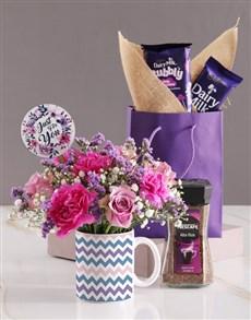 flowers: Pastel Floral Mug!