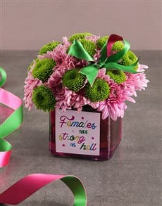 gifts: Pretty And Pink Sprays In Vase!