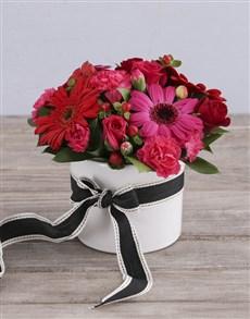 flowers: Scarlet Sensations In Ceramic Vase!