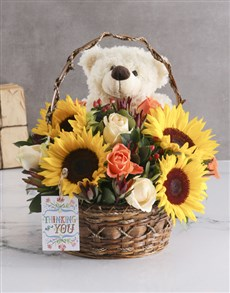 flowers: Sunflower Basket!