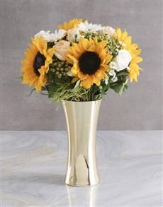 flowers: White Sunflower Arrangement!