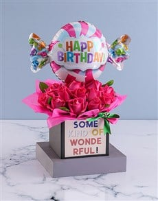 gifts: Wonderful Birthday Rose Arrangement!