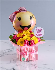 gifts: Go Girl Flower Arrangement!