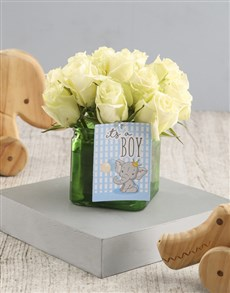 flowers: White Rose Gift For Sweet Baby Boy!