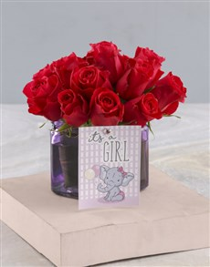 gifts: Cerise Rose Gift For Sweet Baby Girl!