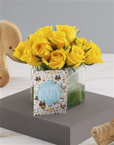 flowers: Yellow Rose Gift For Beautiful Baby!