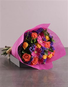 flowers: Mosaic Radiance In Cerise Pink Wrapping!