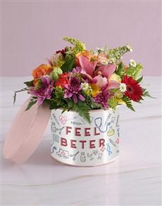 flowers: Feel Better Bunch in Hatbox!