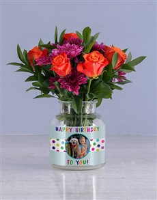 flowers: Happy Birthday Orange Roses!
