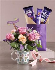 flowers: Pastel Birthday Floral Mug!