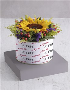 flowers: Sunshine Sunflower Tin!