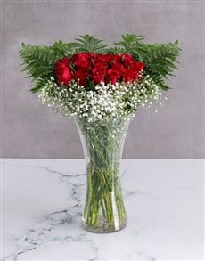 flowers: Starry Red Rose Arrangement!