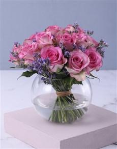 flowers: Pink Petals In Vase Gift!