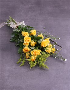 flowers: Sunshine And Yellow Roses Bouquet!