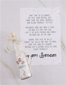 flowers: Happy Birthday Message In A Bottle!
