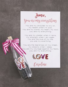 flowers: Cute Love Message In A Bottle!