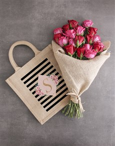 gifts: Personalised Modern Tote With Roses!