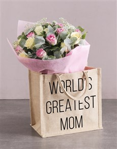 flowers: Majestic Mom Roses And Tote!