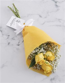 flowers: Yellow Rose Bouquet With Logo!