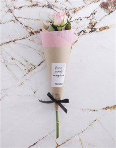 flowers: Pink Rose Cone With Logo!