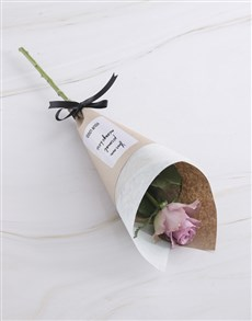flowers: Lilac Rose Cone With Logo!