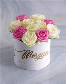 flowers: Personalised Gorgeous Mixed Flowers Hat Box!