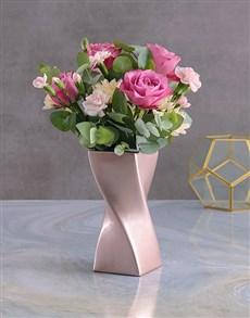 flowers: Spellbound Sensations In Twisty Vase!