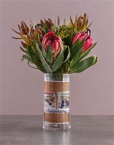 flowers: Anniversary Protea Blossoms!