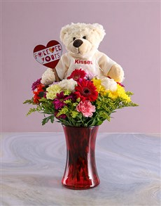 gifts: Forever Yours Mixed Flowers In A Vase!
