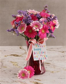 flowers: Mixed Gerbera Blossoms!