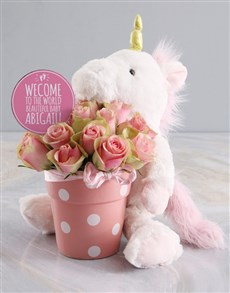 flowers: For Mom And Baby Potted Roses And Teddy!