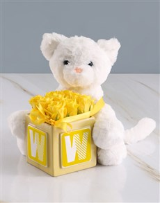 flowers: Radiant Yellow Rose And Teddy Surprise!