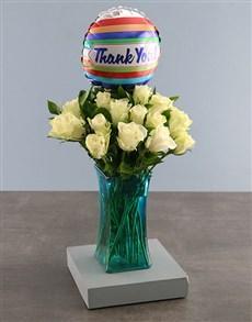 gifts: White Rose Vase Gift Of Gratitude!