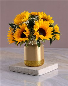 flowers: Have A Sunny Day Sunflowers In A Jar Gift!