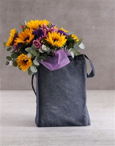flowers: Sunflower Tote Bag Gift Hamper!