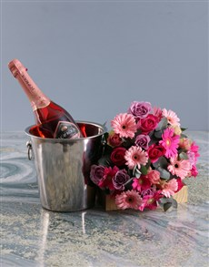flowers: Mixed Flower Assortments With Ice Bucket!