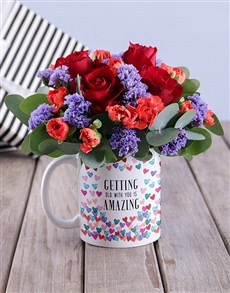 flowers: Getting Old With You Flowers In Mug!