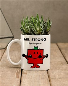 flowers: Mr Strong Succulent In Mug!