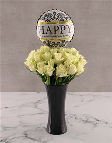 gifts: Classy White Anniversary Roses!