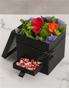 flowers: Birthday Mixed Flower Box With Secret Drawer!