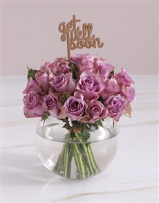 flowers: Get Well Soon Lilac Roses In Fish Bowl!
